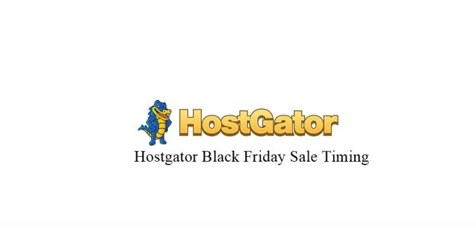 hostgator black friday sale timing